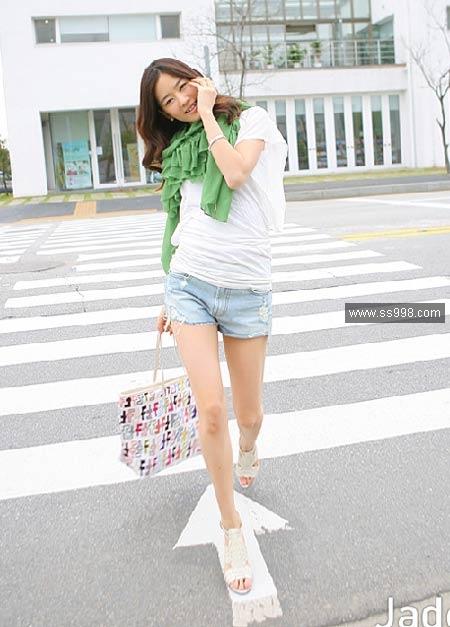 09夏季牛仔短裤搭配(7)