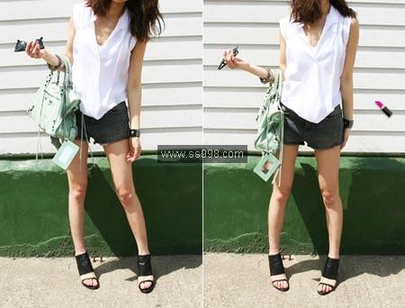 09夏季牛仔短裤搭配(9)