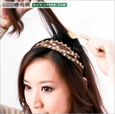 春季三款发箍发型diy(3)