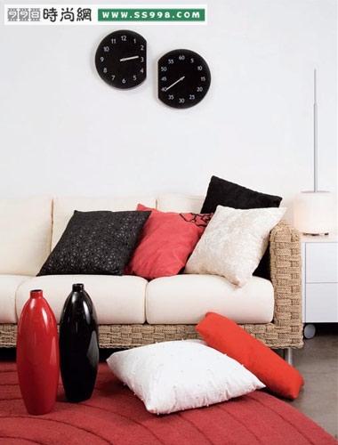 沙发与靠垫搭配出客厅新亮点