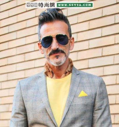 欧美发型街拍:男士复古发型图片(6)