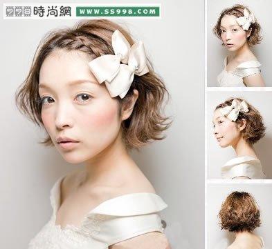 2012完美新娘盘发,短发发型(5)
