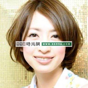 圆脸发型 中分短发BOB头更显脸瘦时尚发型www.ss998.com