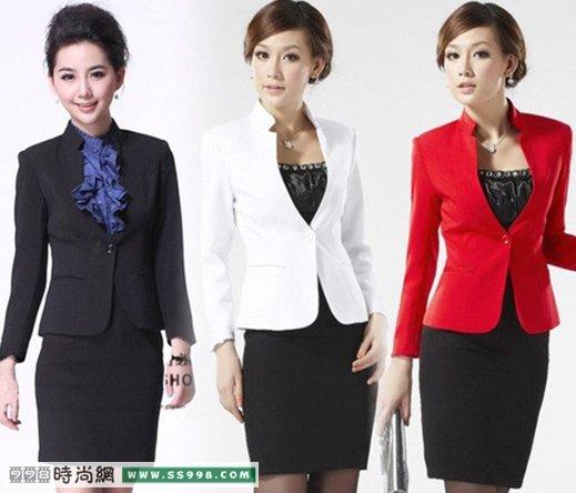 西装裙,这三种搭配都可以把都市女性的优雅干练给
