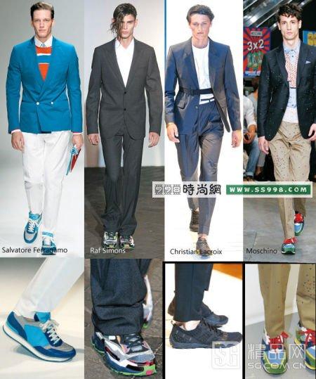 时尚春天西装搭配运动鞋才最潮