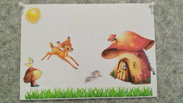 """子和家长合作的剪贴画报   """"这张画报是我和女儿合作完成的,我们把"""